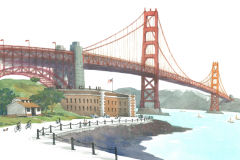 GoldenGateBridge75Watercolor
