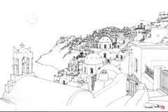 SantoriniCliffHouseDrawing