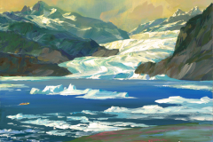 AlaskaJuneauMendenhallGlacierEvening